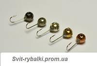Мормышка вольфрам Гр. Шарик / ушко d-3,0 ,024гр №18 (золото, серебро, медь, черная)