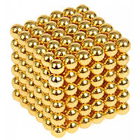 Неокуб Neocube 216 шариков 5мм в металлическом боксе Золотой