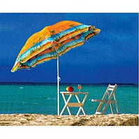 Зонт пляжний з нахилом 1,8 метра. Тканина з захистом від УФ випромінювання