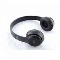 Бездротові Навушники P-47 Bluetooth + MicroSD + FM Радіо чорні