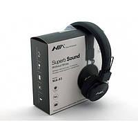 Бездротові Bluetooth-Навушники з MP3 плеєром NIA-X3 Радіо блютуз Чорні