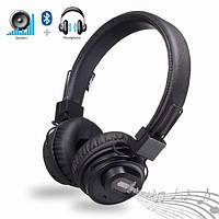 Бездротові Bluetooth стерео навушники НЯ X5SP з МР3, FM і колонкою Чорний