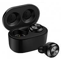 Бездротові стерео навушники Air Twins A6 TWS Bluetooth + бокс Чорні