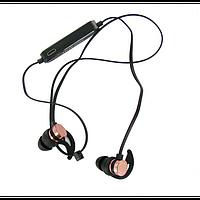 Навушники bluetooth Gorsun E57 з мікрофоном і регулятором гучності Світло рожеві з чорним