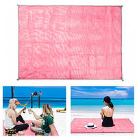 Килимок-підстилка для пікніка або моря анти-пісок Sand Free Mat 200x200 см Рожевий