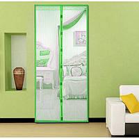 Анти москітна сітка штора на магнітах Magic Mesh 100*210 см Зелена