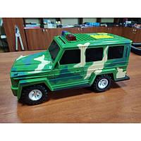Машинка 3в1 копилка + сейф + игрушка Гелендваген Камуфляж Зелёная