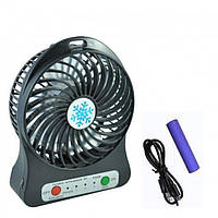 Портативний настільний міні вентилятор Trends Portable Mini Fan XSFS-01 USB Чорний