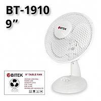 Вентилятор настільний BITEK діаметр 3 пластикових лопатей 23см потужність 20Вт