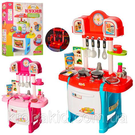 Дитяча ігрова кухня зі світловими і звуковими ефектами, з крана тече вода, розмір 50-31-70 см WD-P19-R19, фото 2