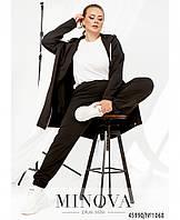 Женский спортивный костюм батал,  Оригинальный спортивный костюм порадует поклонниц практичной одежды на