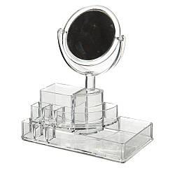 Органайзер для косметики с зеркалом 22х25х13 см 8806-010