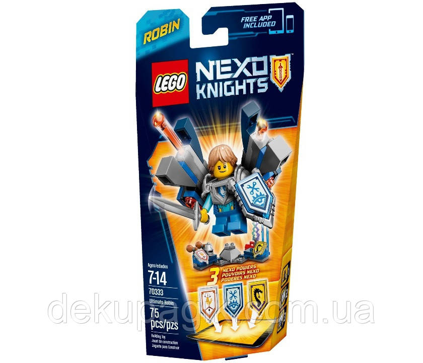 Lego Nexo Knights Робин – Абсолютная сила 70333