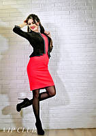 Платье с имитацией пиджака больших размеров