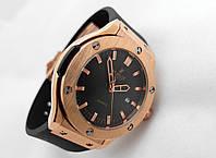 Женские часы HUBLOT - Geneve черный ремешок, японский кварцевый механизм