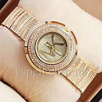 Женские Часы Michael Kors diamond Pink gold/Gold