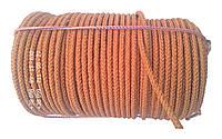 Веревка капроновая  ø 10 мм х 100 м. в мотке (шнур плетеный кордовый)