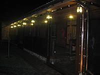 Прозрачные ПВХ шторы для кафе