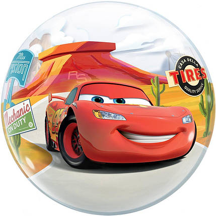 "Куля Bubble Бабл 22""/56 см Блискавка Маквін (Qualatex), фото 2"