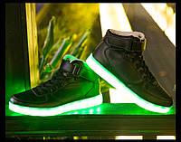 Высокие Светящиеся кроссовки LED, фото 1