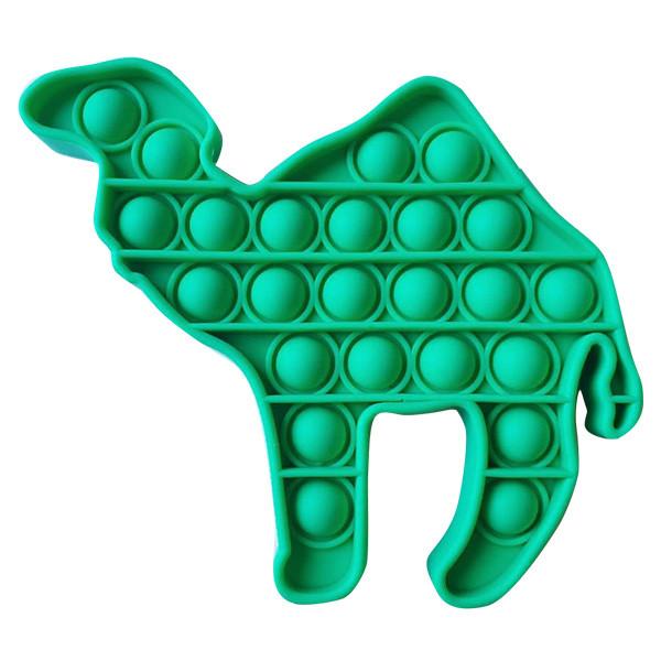 Pop It Антистрес Іграшка - (Поп Іт - Попит - Popit) - Зелений Верблюд