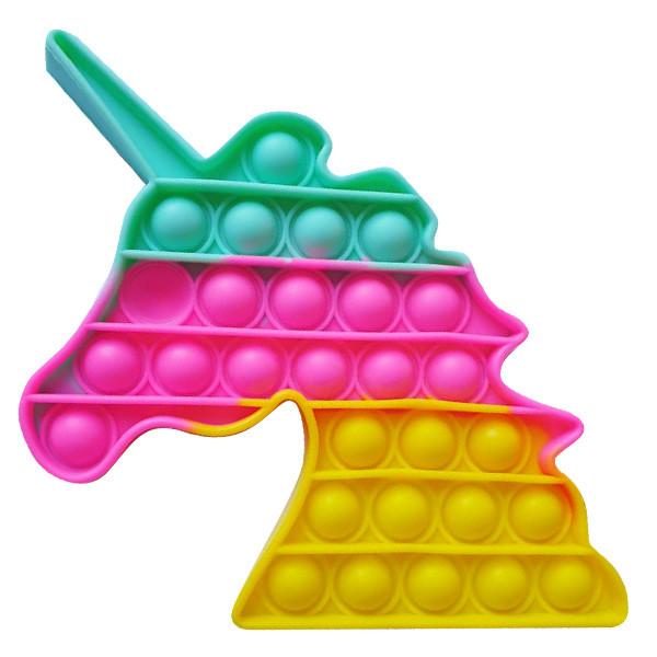 Pop It Антистрес Іграшка - (Поп Іт - Попит - Popit) - Єдиноріг 3 кольори