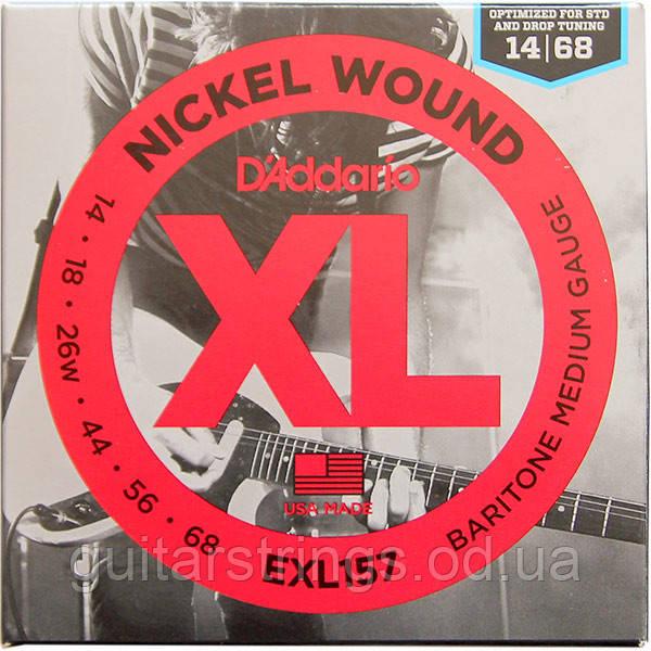 Струны D'Addario EXL157 Nickel Wound Baritone 14-68