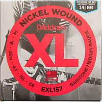 Струны D'Addario EXL157 Nickel Wound Baritone 14-68, фото 1