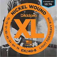 Струны D'Addario EXL140-8 Nickel Wound 8-String 10-74