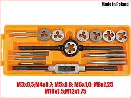 Набор метрических плашек и метчиков Vorel 24295