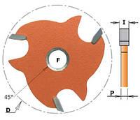 Фреза Т пазовая трехзубая CMT I6,4-P4,45-D47,6-d8, фото 1