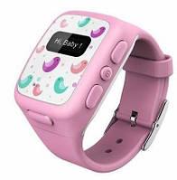 Детские умные часы KidFit с GPS-трекером Wherecom Розовые, фото 1