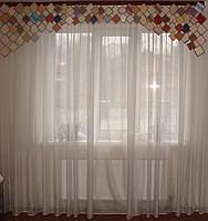 Жесткий ламбрекен Ромбы 2,50м Цветные, фото 1