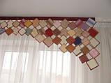 Жесткий ламбрекен Ромбы 2,50м Цветные, фото 2
