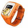 Детские умные часы KidFit с GPS-трекером Wherecom Оранжевые