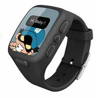 Детские умные часы KidFit с GPS-трекером Wherecom Черные, фото 1