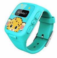 Детские умные часы KidFit с GPS-трекером Wherecom Голубые, фото 1