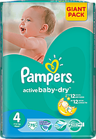 Подгузники Pampers Active Baby-Dry Maxi 4 (7-14кг.) 76 шт. giant pack