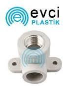 Колено (угол) настенное с внутренней резьбой 25 х 3\4 для полипропиленовых труб Evci Plastik