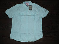 Рубашка мужская хлопок однотонная