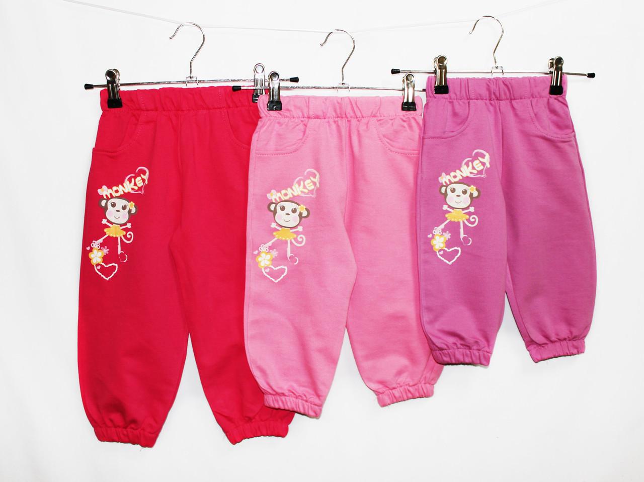 Брюки детские трикотажные для девочки. 1, 2, 3, 4 года. Vizcon