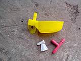 Микро чашечная поилка для перепелов, ниппельная поилка, фото 9