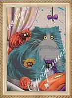 """Схема для вышивки бисером """"Кошка и котята"""""""