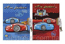 "Блокнот с замком ""Машинки"" А6 60 листов Wilhelm Buro"