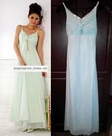 Вечернее платье. Платье длинное на выпускной бал. Нежно-голубое.