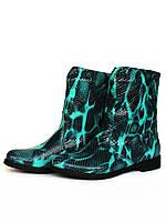 """Ботинки женские """"Трубы"""" из натуральной кожи со змеиным принтом, фото 1"""