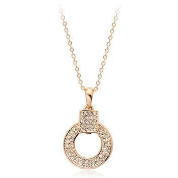 Кулон СТИЛЬ ювелирная бижутерия золото 18К декор кристаллы Swarovski