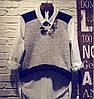 Женская удлиненная хлопковая рубашка. Фк-4-0217, фото 2