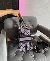 "Сумка Lady Dior Grey ""Сірі"", фото 3"