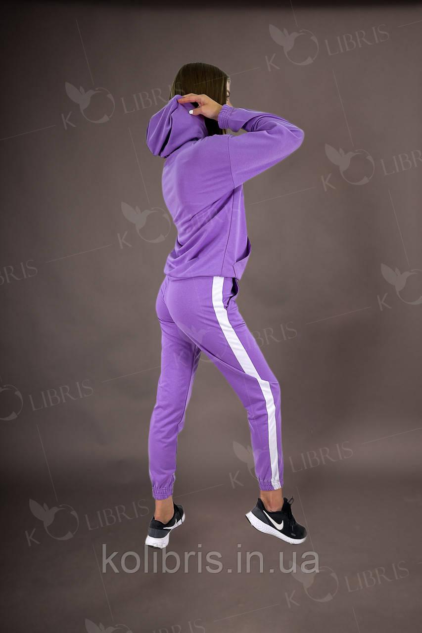 Спортивный женский костюм из сиреневой двунитки